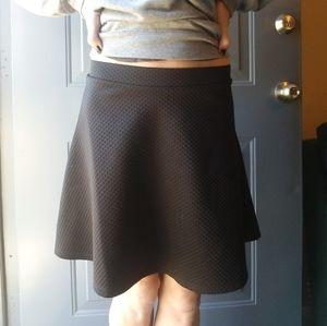 H&M textured black skirt.